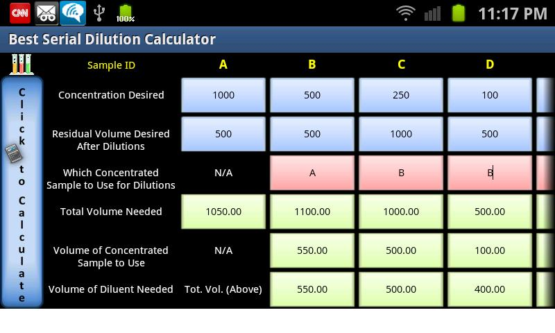 Best Serial Dilution Calc- screenshot