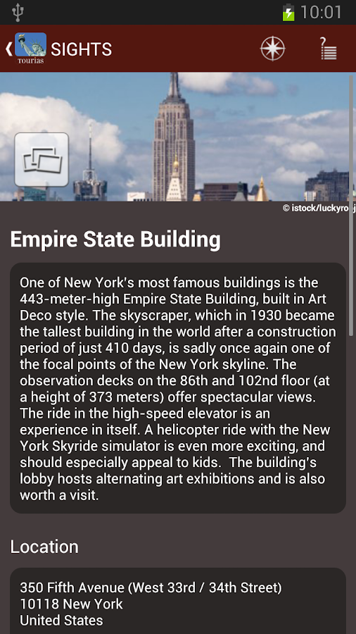 New York Travel Guide -Tourias - screenshot