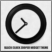 BlackClock Zooper Widget Skin
