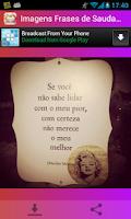 Screenshot of Imagens com Frases de Saudade