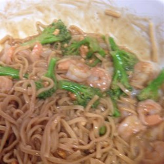Shrimp and Peanut Butter Noodles