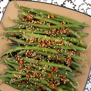 Sesame Garlic Ginger Green Beans.