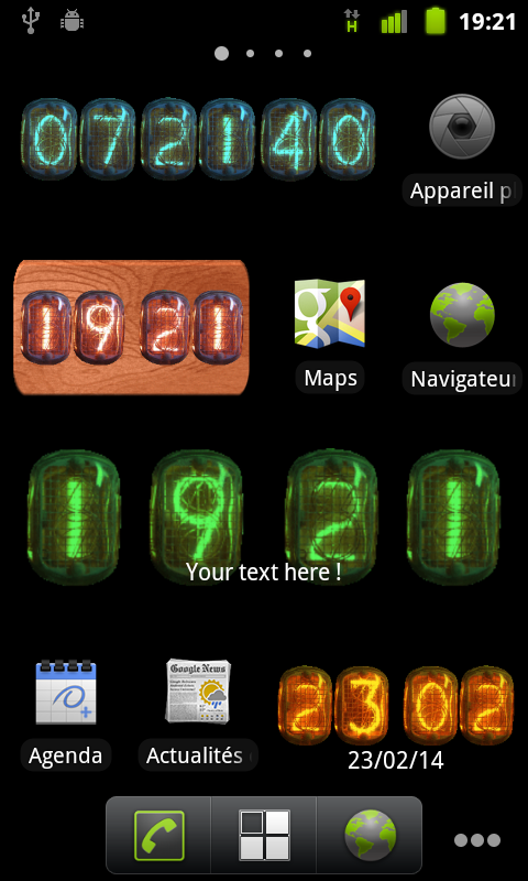 Nixie Clock Widget - screenshot