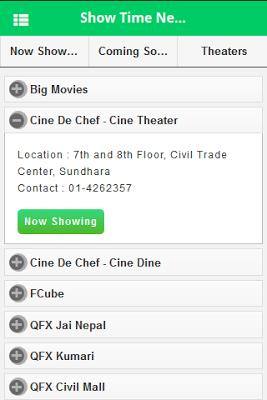 Show Time Nepal - screenshot