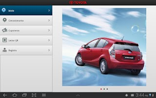 Screenshot of Toyota Chile