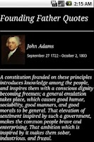 Screenshot of Founding Father Quotes