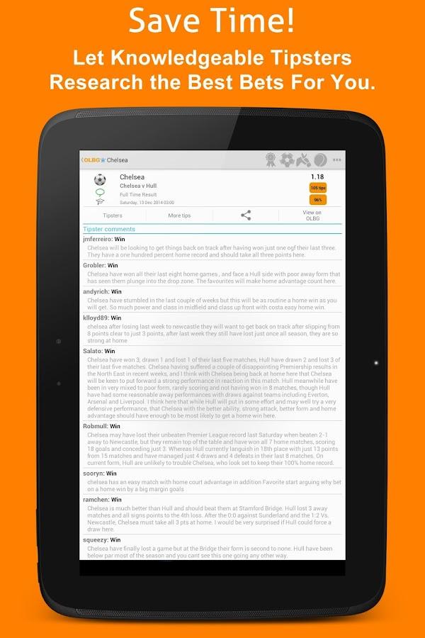 OLBG Sports Betting Tips - screenshot