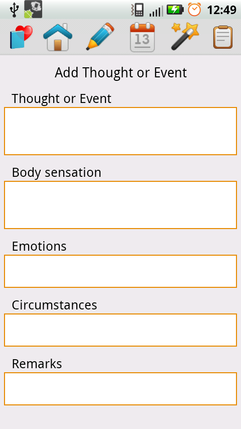 Schema Therapy Diary - screenshot
