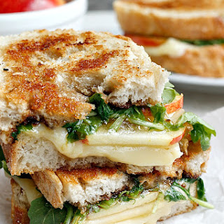 Spicy Apple Cheddar Grilled Cheese.