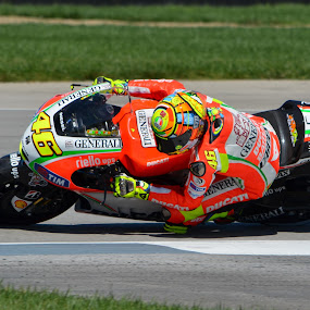 Rossi Knee Drag by Nathaniel Beighley - Sports & Fitness Motorsports ( motogp, valentino rossi, racing, indianapolis, motorcycle, nikon, d5100,  )