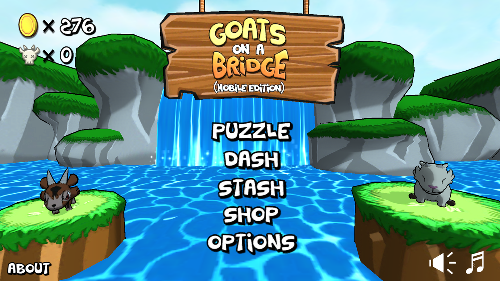 Goats on a Bridge Lite- screenshot