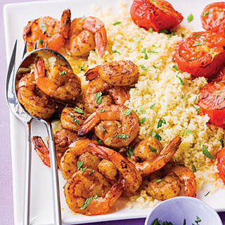 Harissa Shrimp with Couscous, Tomatoes, and Mint