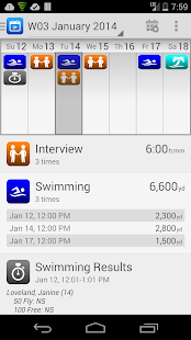 SwimWiz Fitness Log Demo - screenshot thumbnail