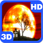 Halloween Moon Mystery Red Sky icon