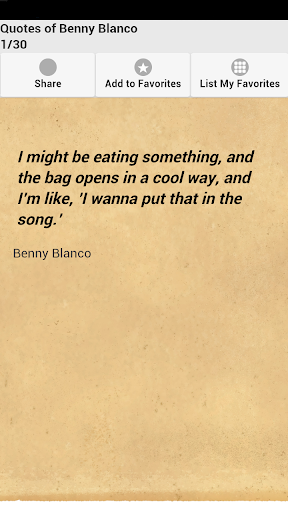 Quotes of Benny Blanco