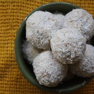Raw Coconut Lemon Bites.