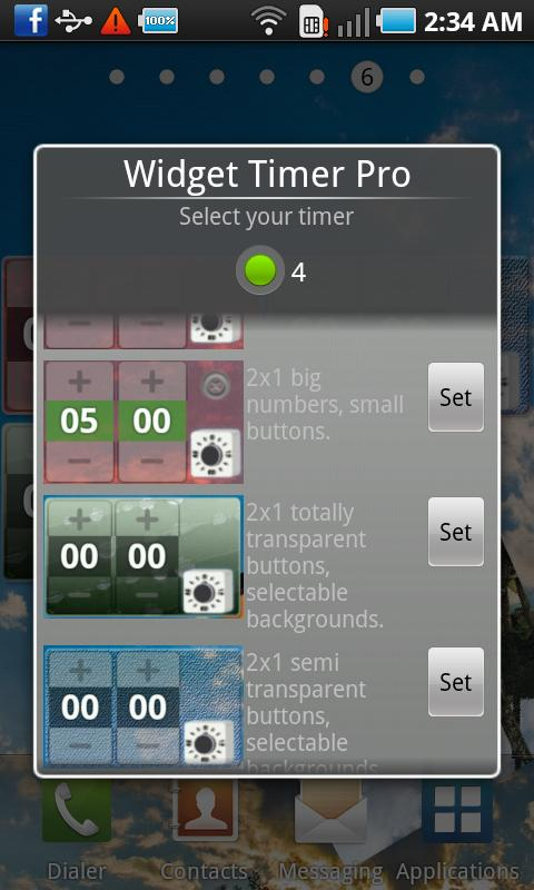 Widget Timer Pro- screenshot