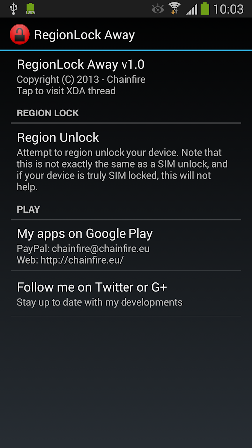 [root] RegionLock Away - screenshot