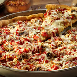 Easy Deep-Dish Pizza.