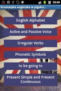 Angielski Gramatyka- screenshot thumbnail
