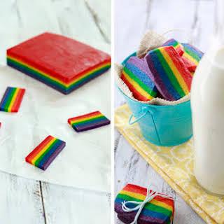 Rainbow Slice and Bake Sugar Cookies.