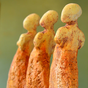drie op een rij  by Kathelijn Vlaemynck - Artistic Objects Other Objects