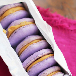 Peanut Butter and Jelly Macarons.