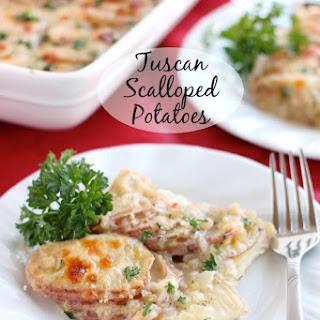 Tuscan Scalloped Potatoes.