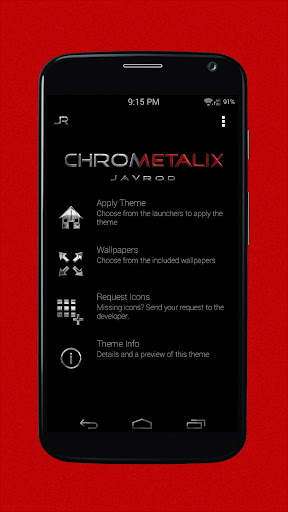 Red Chrometalix-Icon Pack