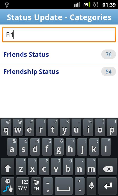 Statuses & Quotes for Facebook - screenshot