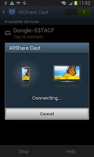 AllShareCast Dongle S/W Update - screenshot thumbnail