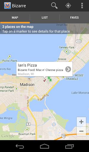 Bizarre Foods Locator