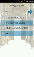 Screenshot of Zitate und Sprüche Bibliothek