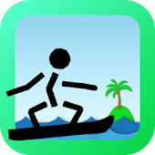 Surfing game Surfing Stick man