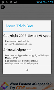 Trivia Box - screenshot thumbnail