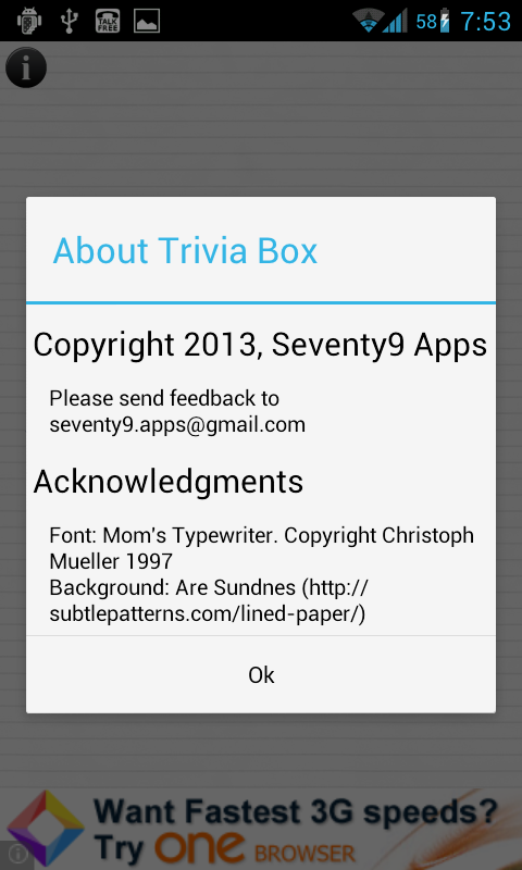 Trivia Box - screenshot