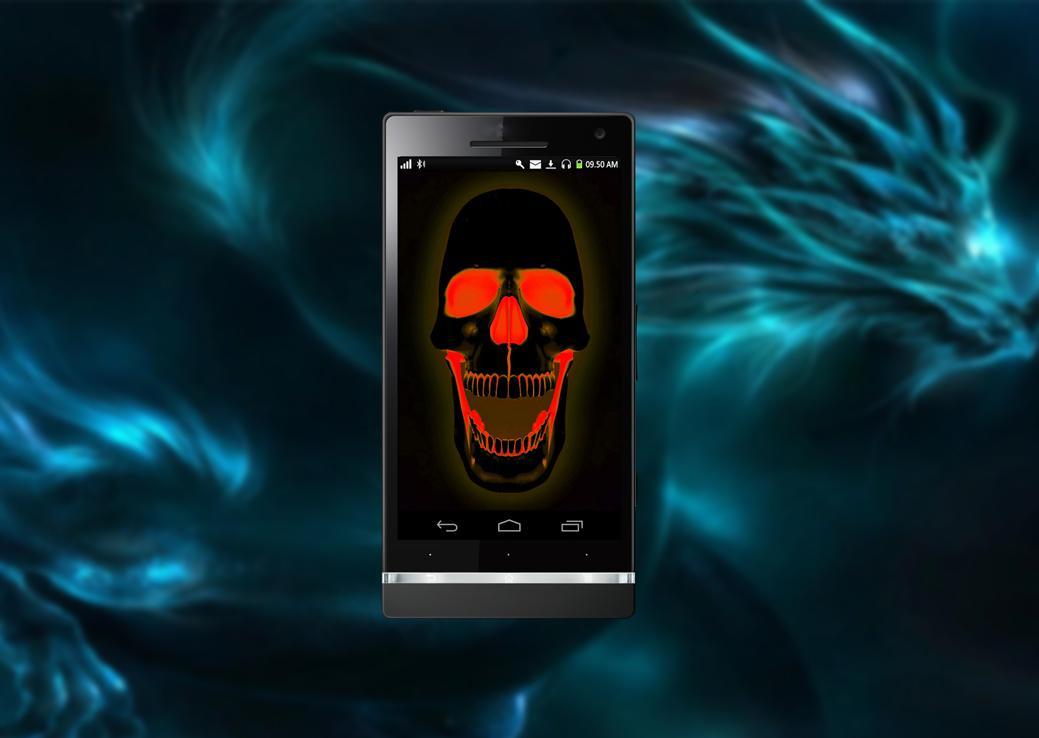 Neon Skull HD Live Wallpaper Screenshot