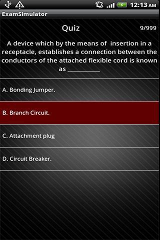 Electrician's Exam Q A Sim