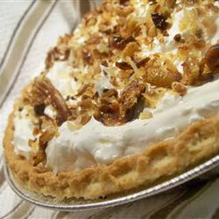 Toasted Coconut, Pecan, and Caramel Pie.