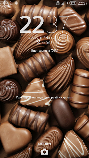 Тема eXPERIAnZ - Шоколад для планшетов на Android