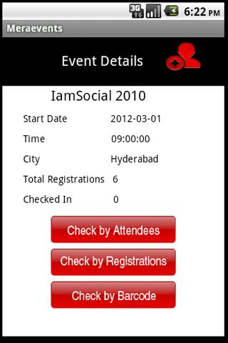 Meraevents.com Organizer App - screenshot
