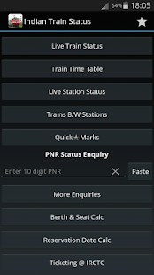 Indian Train Status - screenshot thumbnail