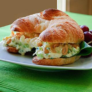 Simple Chicken Salad Croissant Sandwiches.