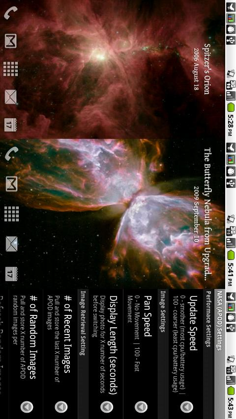 NASA (APOD) - Live Wallpaper - screenshot