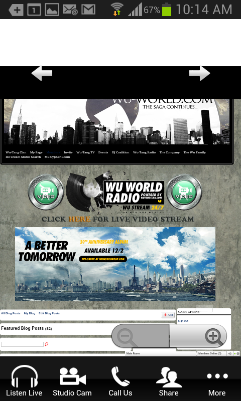 Wu World Radio (Wu-Tang Radio)- screenshot