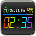 Rainbow Battery Clock (HD32) icon