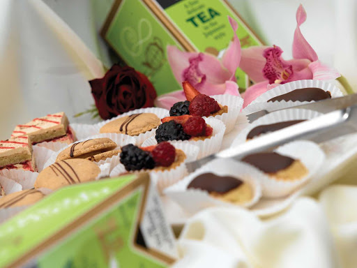 Oceania-High-Tea-2-2 - Satisfy your sweet tooth with colorful petit fours, delicate pastries and a selection of teas during your travels on Oceania Nautica.