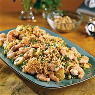 Asian Shrimp With Pasta.