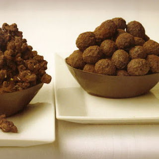 Chocolate Popcorn and Grapes