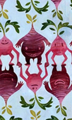 復古蔬菜壁紙
